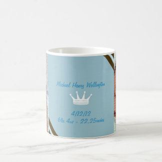 Blue Crown Baby Photo Collage Mug