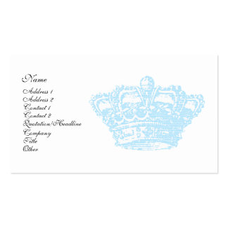 Blue Crown Double-Sided Standard Business Cards (Pack Of 100)
