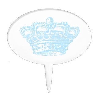 Blue Crown Cake Toppers