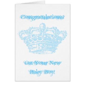 Blue Crown Card