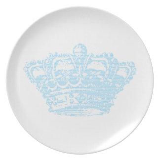 Blue Crown Dinner Plate