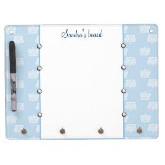 Blue Crown Dry Erase Board