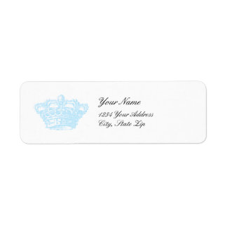 Blue Crown Custom Return Address Labels
