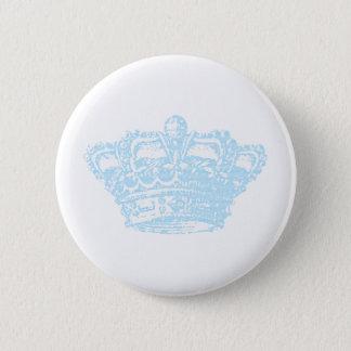 Blue Crown Pinback Button