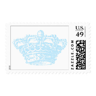 Blue Crown Postage Stamp