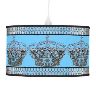 Blue Crown Royal Hanging Lamp