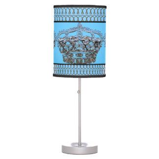 Blue Crown Royal Table Lamp