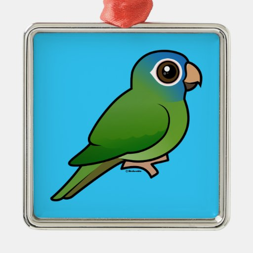 Blue-crowned Conure Christmas Tree Ornaments