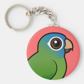 Blue-crowned Conure Keychain