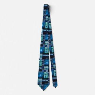 Blue Crows Mirage Neck Tie