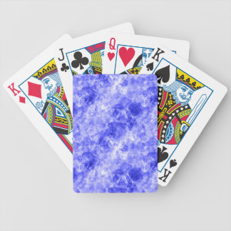 Blue Crumpled Texture Bicycle Playing Cards