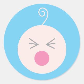 Blue Cry Baby Sticker