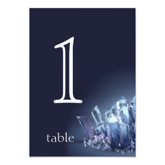 Blue Crystal 15th Anniversary Table Number