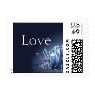 Blue Crystal 15th Wedding Anniversary Stamp