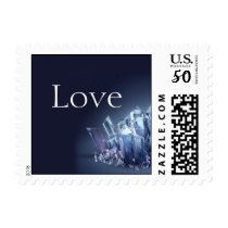 Blue Crystal 15th Wedding Anniversary Stamp