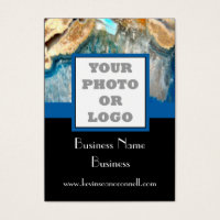 Instagram business cards templates zazzle standard sized business cards blue crystal agate photo logo colourmoves Images
