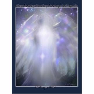 blue crystal angel cutout