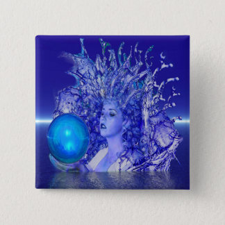 Blue Crystal Button