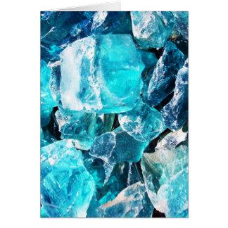 Blue Crystal Chunks Greeting Card