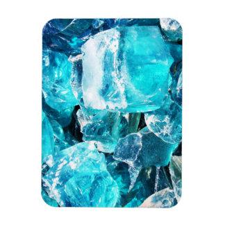 Blue Crystal Chunks Flexible Magnet