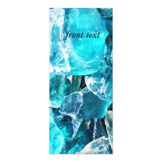 Blue Crystal Chunks Custom Invitation