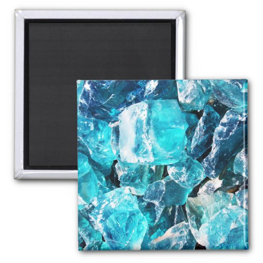 Blue Crystal Chunks Magnet