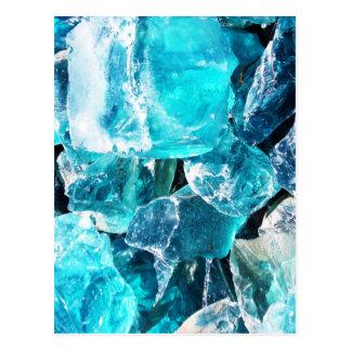 Blue Crystal Chunks Postcard