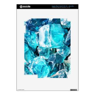 Blue Crystal Chunks iPad 3 Decal