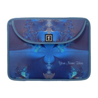 Blue Crystal Fractal Personal MacBook Sleeve