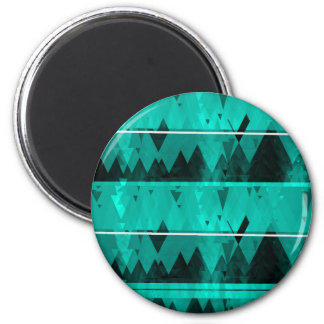Blue Crystal Ice Mountain Pattern Magnet