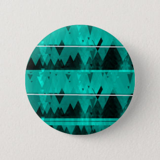 Blue Crystal Ice Mountain Pattern Pinback Button