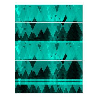 Blue Crystal Ice Mountain Pattern Postcard