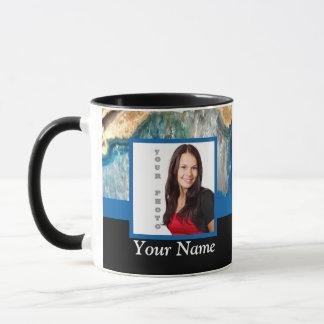 Blue crystal instagram template mug