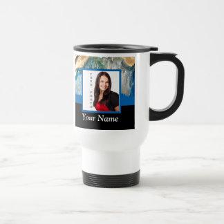 Blue crystal instagram template travel mug