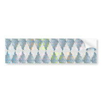 Blue Crystal Pattern Bumper Sticker