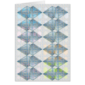 Blue Crystal Pattern Card