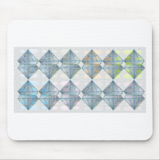 Blue Crystal Pattern Mouse Pad