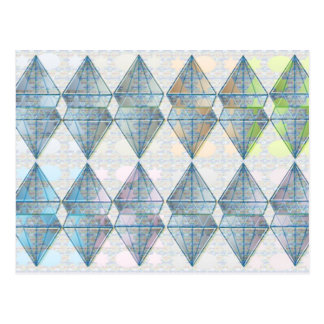 Blue Crystal Pattern Postcard