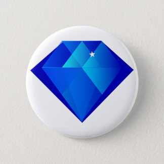 Blue Crystal Pinback Button