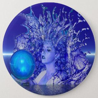 Blue Crystal Pinback Button