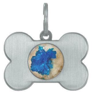 Blue Crystal Rock Hound Collector Gemology Pet Tag