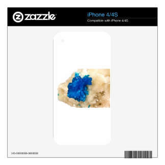Blue Crystal Rock Hound Collector Gemology Skin For The iPhone 4