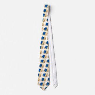 Blue Crystal Rock Hound Collector Gemology Tie