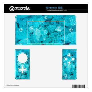 Blue Crystal Decal For Nintendo 3DS