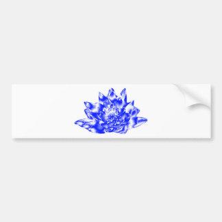 Blue Crystalline Lotus Car Bumper Sticker