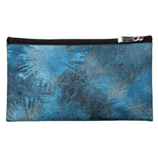 Blue Crystallized Ice Makeup Bags