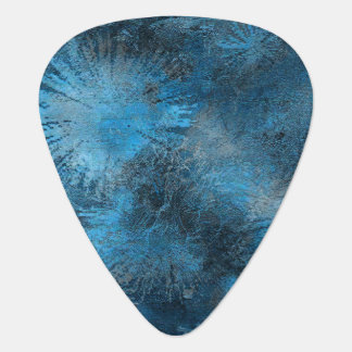 Blue Crystallized Ice Guitar Pick
