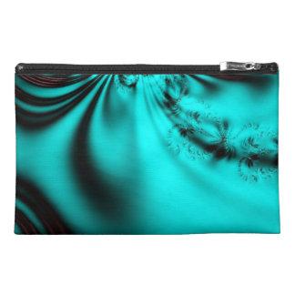 Blue Crystals Fractal Travel Accessories Bag