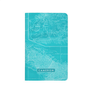 Blue Cuba Map Journal