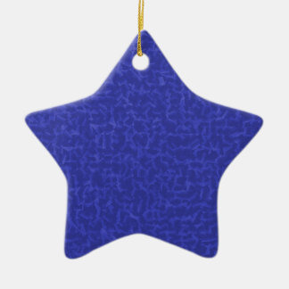 blue cubed ornament